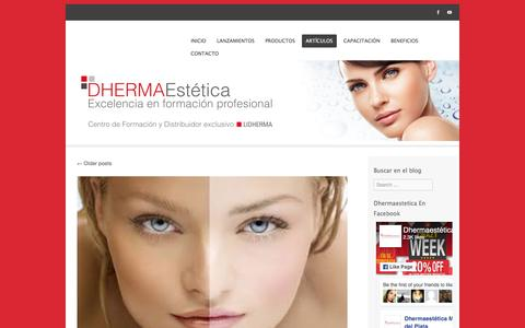 Screenshot of Blog dhermaestetica.com - Artículos | Dhermaestética Mar del Plata - captured Nov. 24, 2016