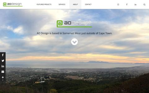Screenshot of About Page aodesign.co.za - About AO Design | AO Design - captured Nov. 4, 2018