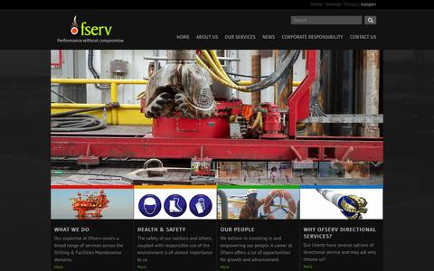 Screenshot of Home Page ofserv.com - Home | Oilfield Services International - captured Jan. 30, 2015