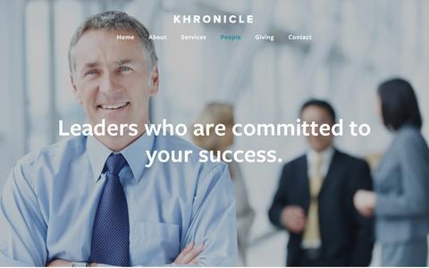 Screenshot of Team Page khronicle.com - People — KHRONICLE - captured Nov. 27, 2016