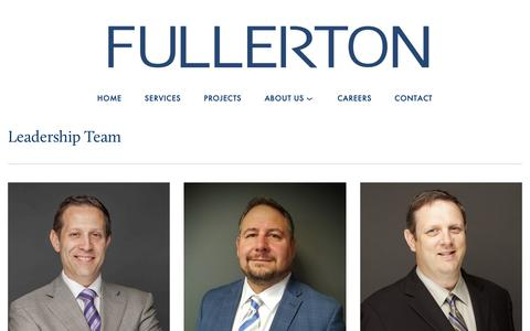 Screenshot of Team Page fullertonengineering.com - Leadership — Fullerton - captured Feb. 16, 2019