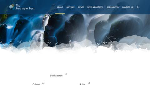 Screenshot of Team Page thefreshwatertrust.org - Our Team | The Freshwater Trust - captured June 15, 2017