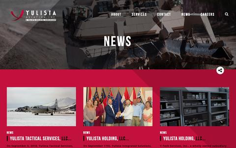 Screenshot of Press Page yulista.com - News | Yulista Aviation - captured Oct. 23, 2018