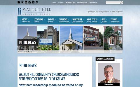 Screenshot of Press Page walnuthillcc.org - In the News - Walnut Hill Community Church - captured Feb. 13, 2016