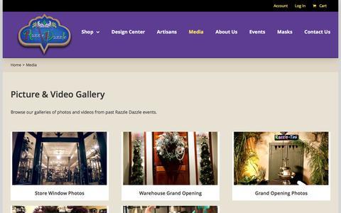Screenshot of Press Page razzledazzle.com - Media Gallery   Razzle Dazzle - captured Dec. 3, 2016