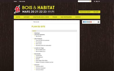 Screenshot of Site Map Page bois-habitat.be - Plan du site - Bois & Habitat - captured Sept. 26, 2014