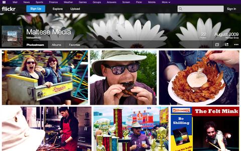 Screenshot of Flickr Page flickr.com - Flickr: MalteseMedia's Photostream - captured Oct. 23, 2014