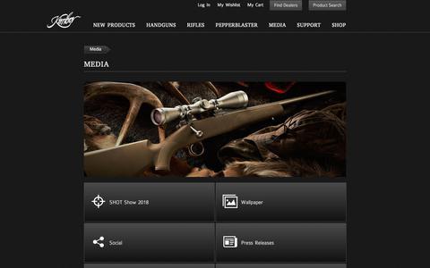 Screenshot of Press Page kimberamerica.com - Kimber America   Media - captured Sept. 24, 2018