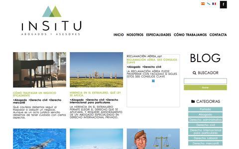 Screenshot of Blog insitu-a.com - Blog - INSITU - captured Nov. 18, 2016