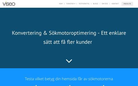 Screenshot of Home Page viseo.se - Viseo - Ett enklare s�tt att f� fler kunder online - captured Nov. 17, 2015