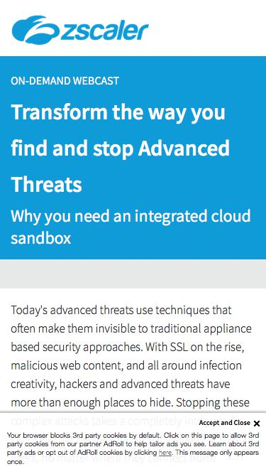 Transform the way you find and stop Advanced Threats   Zscaler