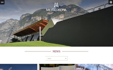 Screenshot of Press Page mezzacorona.it - News - captured Feb. 13, 2016