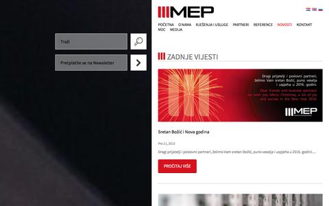 Screenshot of Press Page mep.hr - Novosti :: MEP - captured Jan. 23, 2016