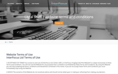 Screenshot of Terms Page mynewlab.com - Terms & Conditions | Interfocus - captured Oct. 12, 2018