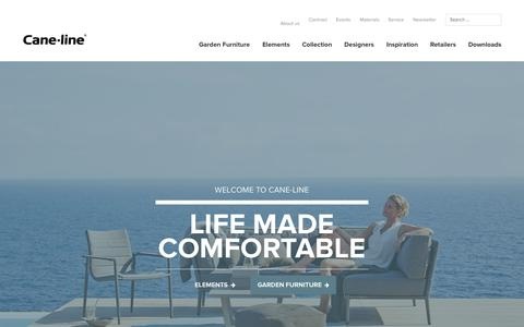 Screenshot of Home Page cane-line.com - Cane-line - Exclusive Danish design outdoor garden & patio furniture - captured Oct. 26, 2015
