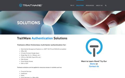 Solutions : Traitware