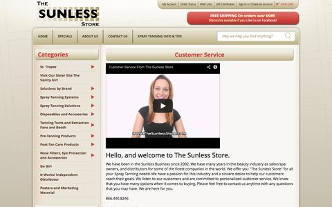 Screenshot of Privacy Page Support Page thesunlessstore.com - The Sunless Store Customer Service - captured Oct. 25, 2014