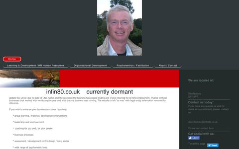 Screenshot of Home Page infin80.co.uk - - Home - captured Nov. 26, 2016