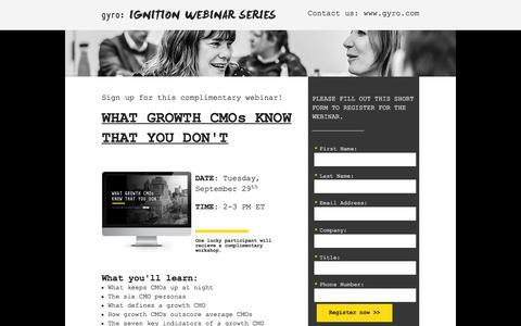 Screenshot of Landing Page gyro.com captured April 29, 2016