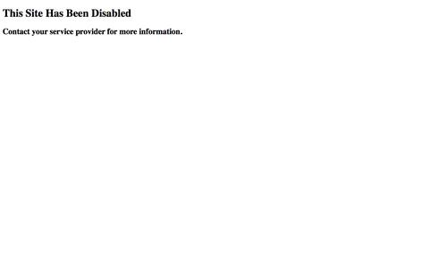 Site Disabled