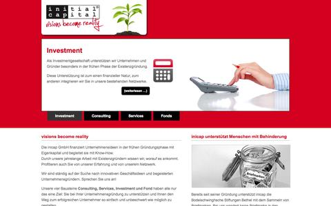 Screenshot of Home Page inicap.de - inicap GmbH - captured Oct. 6, 2014