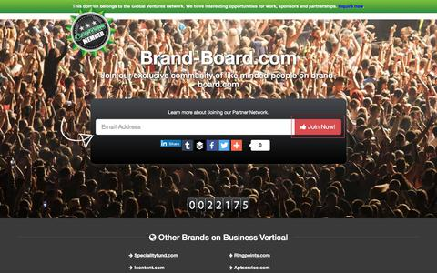Screenshot of Home Page brand-board.com - Welcome to brand-board.com - captured Jan. 7, 2016