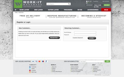Screenshot of Login Page work-it-wear.com - Workwear | Buy High Performance Workwear from Work IT | Work IT - captured Oct. 9, 2014