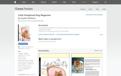 Screenshot of iOS App Page apple.com - Little Pampered Dog Magazine on the App Store on iTunes - captured Nov. 2, 2014
