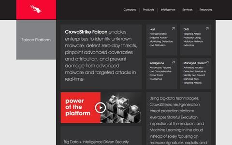 Screenshot of Products Page crowdstrike.com - Technology | CrowdStrike - captured Sept. 12, 2014