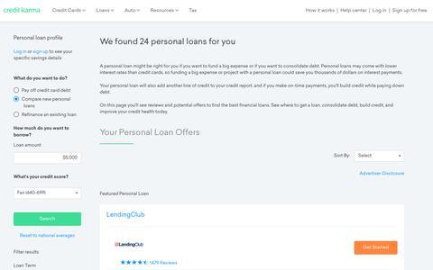 Personal Loans | Credit Karma