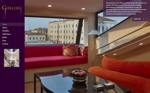 Screenshot of Home Page tgosling.com - Gosling Ltd  - Luxury Bespoke Furniture - captured Feb. 1, 2016