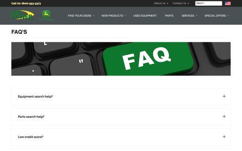 Screenshot of FAQ Page ag-power.com - FAQ's - AG-POWER - captured Oct. 7, 2017