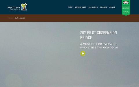 Screenshot of Privacy Page seatoskygondola.com - Sky Pilot Suspension Bridge | Sea to Sky Gondola - captured Dec. 22, 2015