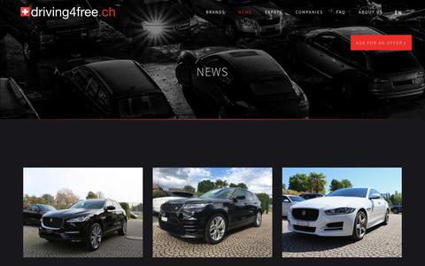 Screenshot of Press Page driving4free.ch - Our News - Driving4Free - captured Oct. 9, 2018