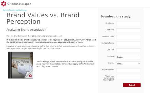 Screenshot of Landing Page crimsonhexagon.com - Brand Perception Analysis   Social Media Brand Analysis - captured Oct. 23, 2016