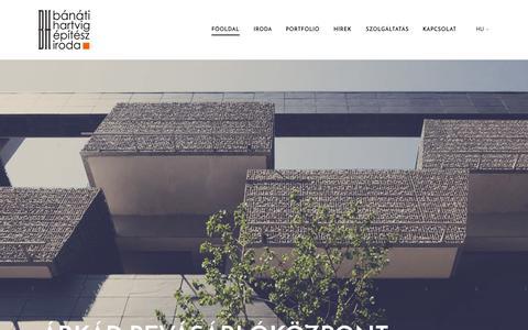 Screenshot of Home Page bh.hu - Bánáti + Hartvig Építész Iroda Kft. - captured Sept. 12, 2015