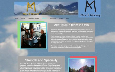 Screenshot of About Page new2norway.com - About us - New 2 Norway - captured Dec. 12, 2016