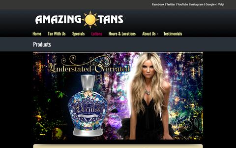 Screenshot of Products Page amazingtans.com - Products «  Amazing Tans ♥ TANNING SALONS IN SACRAMENTO | Tanning Roseville | Spray Tanning Folsom - captured Nov. 12, 2018