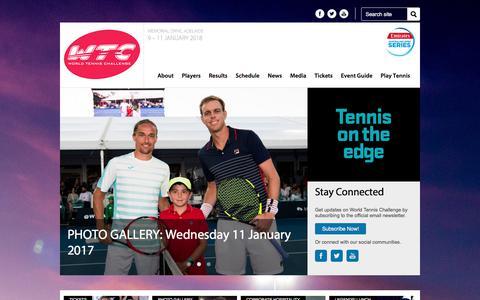 Screenshot of Home Page worldtennischallenge.com - World Tennis Challenge - Memorial Drive - captured June 19, 2017