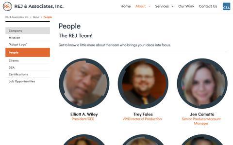 Screenshot of Team Page rejassociates.com - People – REJ & Associates, Inc. - captured Oct. 20, 2018
