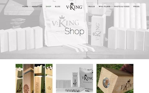 Screenshot of Products Page playvking.com - Shop — Play V:King - captured Dec. 2, 2016