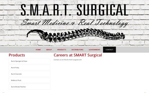 Screenshot of Jobs Page smart-surgical.com - Smart-Surgical > Contact > Careers - captured Feb. 21, 2016