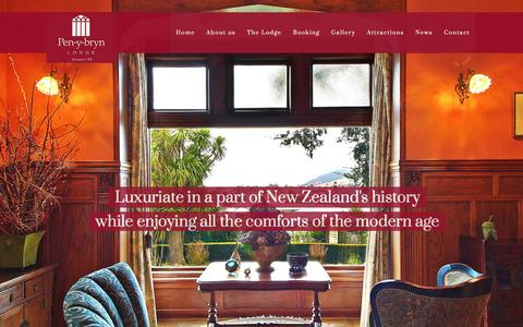 Screenshot of Home Page penybryn.co.nz - Pen-y-bryn Lodge | Oamaru's luxury boutique hotel Pen-y-bryn Lodge - captured Jan. 26, 2016