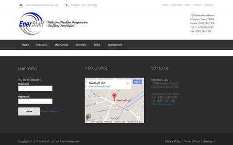 Screenshot of Terms Page enerstaffusa.com - Terms of Use - EnerStaff USA - captured Nov. 2, 2014