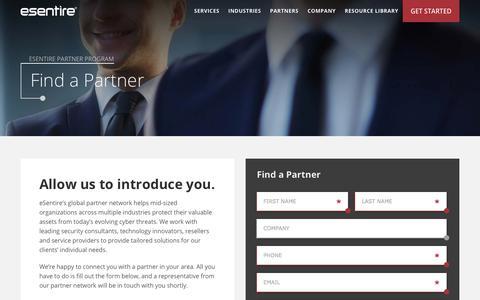 Find a Partner | eSentire