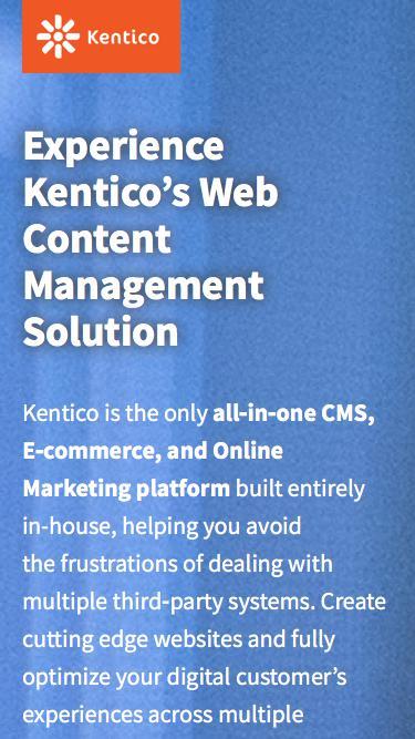 Experience Kentico's ASP.NET Based CMS Platform | Kentico CMS for ASP.NET