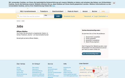 Screenshot of Jobs Page veritas-shop.com - Jobs - Veritas Online Shop | Veritas - captured June 4, 2018