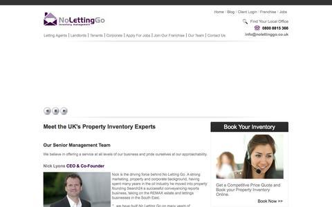Screenshot of Team Page nolettinggo.co.uk - Property Inventory Management - Meet the Team at NoLettingGo - captured Sept. 30, 2014