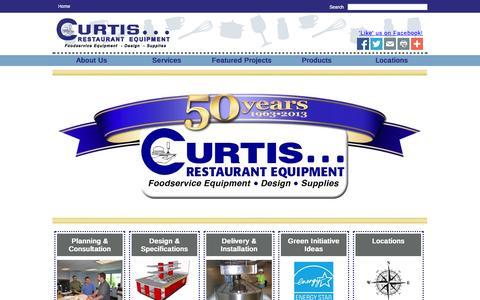 Screenshot of Home Page curtisresteq.com - Curtis Restaurant Equipment - captured Oct. 3, 2014