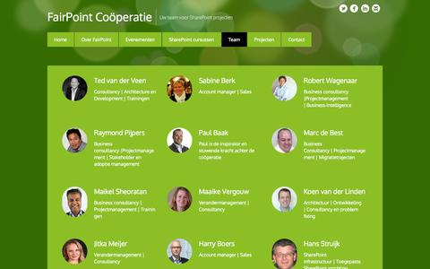 Screenshot of Team Page fairpoint.coop - Ons team • FairPoint Coöperatie - captured Oct. 5, 2014